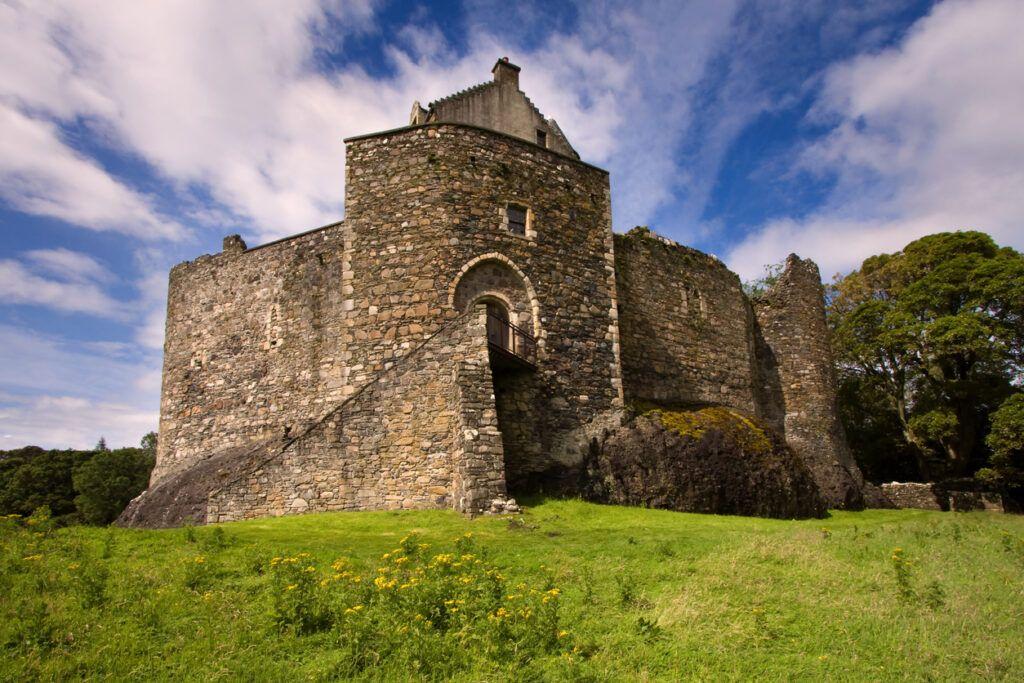 Dunbeg, Oban, Argyll and Bute, Scotland – August 5, 2011: Dunstaffnage Castle