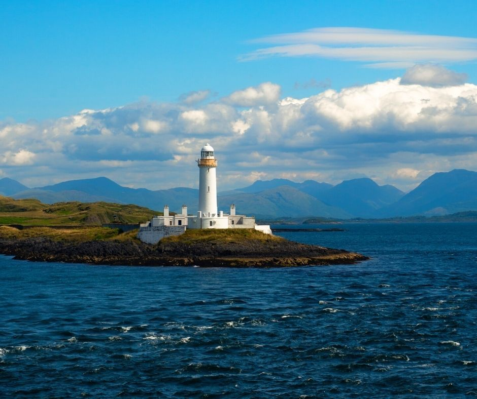 Lighthouse on the isle of Lismore