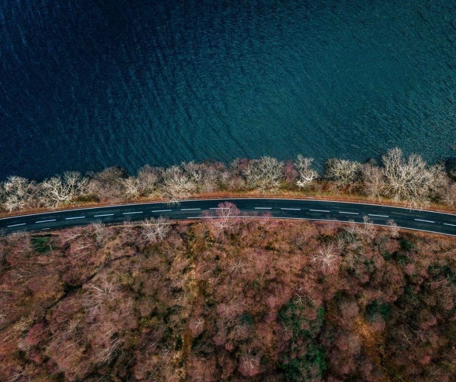 Road through Loch Lomond & the Trossachs
